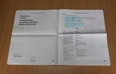 CV & Portfolio Mailer by Charlotte Allen, via Behance