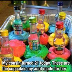 Cupcake mini bottles