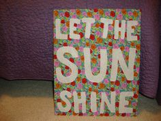 "Urban Outfitters DIY ""let the sun shine"""