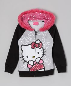 Kitty White is the shining star on this sweetly styled hoodie. The darling design adds girlish charm to any ensemble, while faux fur trim adds a glamorous and cozy touch around the hood. Hello Kitty Hoodie, Hello Kitty Clothes, Baby Bats, Unique Hoodies, Cute Pattern, Fur Trim, Faux Fur, Heather Grey, Zip Ups