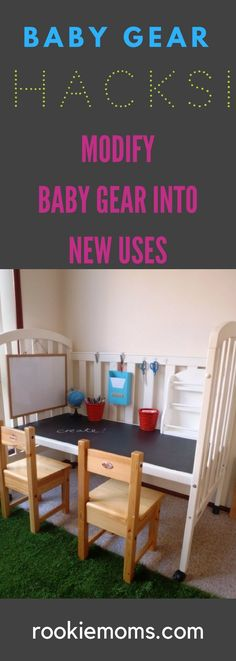 Baby Gear Hacks - How to modify baby gear into fun and useful hacks. via Rookie Moms You are in the right place about Baby Gear bundle Here we offer you the most beautiful pictures about the Baby Must Haves, Baby Boys, Baby Shooting, Old Cribs, Baby Equipment, First Time Parents, Baby Care Tips, Baby Hacks, Baby Decor