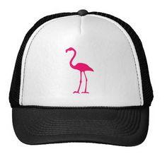 Pink Flamingo Trucker Hat, Unisex, Mesh Adjustable Sizing.