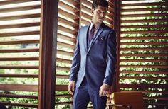#HouseofFraser #SS16 Logan Macrae shot by Diego Merino   #blue #tailoring #suit #summer