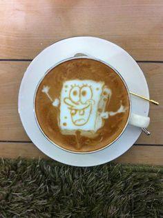 SpongeBob latte art