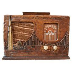 Rare RCA Victor 1939 Golden Gate International Exposition Art Deco Radio 1