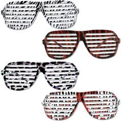 Animal Print K West Style Glasses Case Pack 300