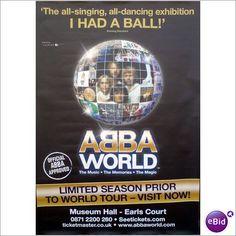 ABBA - ABBA Poster ABBAWorld Billboard Promo Exhibition Poster. ABBA World