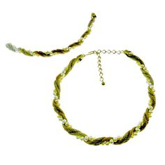 Trifari Mesh Necklace and Bracelet Set with by EclecticVintager