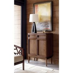 Oslo Bar Cabinet in Dining, Kitchen Storage | Crate and Barrel