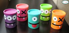 Botes de play doh decorados para halloween | Fotos o Imágenes | Portadas para Facebook