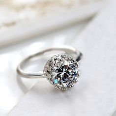New Fashion Women Gothic Style Crown Wedding Party Exquisite  Rhinestone Ring #New