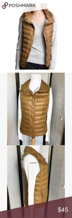 GAP Cold Control Light Weight Puffer Vest GAP Cold Control Light Weight Puffer Vest  • size XS • color is a golden brown, may vary slightly photos taken in daylight • excellent condition, no staining • 🚨NO TRADES🚨 GAP Jackets & Coats Vests