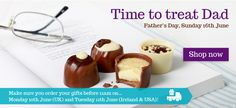 Time to treat Dad with some scrumptious chocy treats! Fathers Day, June, Sunday, Lily, Treats, Seasons, Desserts, Gifts, Food
