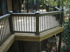 Two Tone Deck Stain Pictures Darker Railings Lighter Floor