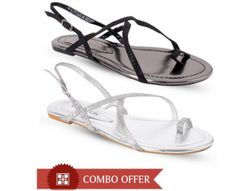 Carlton London Irresistible Flat Sandals Combo only Rs.375/- Visit daily to get more online shopping deals and discount