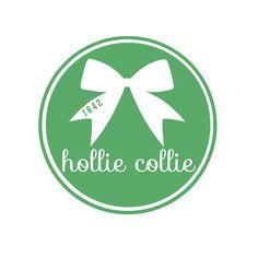 Hollie Collie Bow Sticker - Green  Hollins University