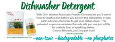 Shaklee Dishwasher Detergent  go green with Shaklee for earth day - nontoxic cleaners www.gatheredinthekitchen.com