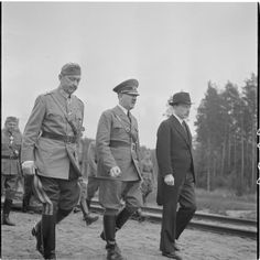 After 1940, Finns fought with Germans against the Russians. A picture of Hitler visiting Finland at general Mannerheim's 70th birthday, 1942. SA-Kuva