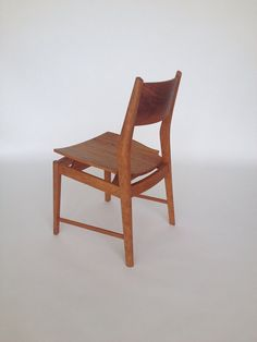 Contemporary Danish modern cherry dining chair.