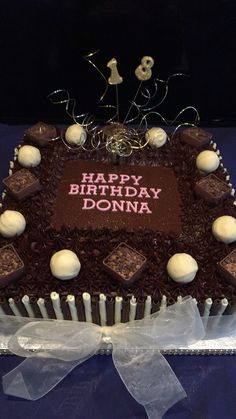 Square Belgian chocolate birthday cake