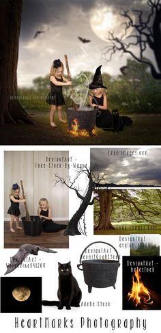 Halloween Forest by HeartMarks Photography | Halloween Composite | Tutorial with Tara Lesher Photography #photoshop #composite #imaginewithhmp | Photoshop | Composite | Halloween | Costume