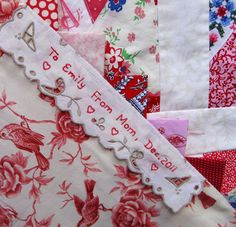 beautiful tag for handmade quilts