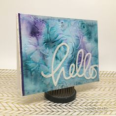 Video: 4 watercolored cards using We R Memory Keepers Next Level Embossing folders - Paper Crafts by Laurel