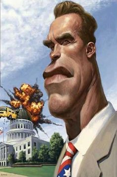 Arnold Schwarzenegger Caricature (Image Source: Freefacebookpics)