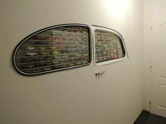 VW Bug windows for die-cast car collection wall display