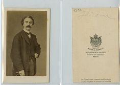 Mayer et Pierson, Le peintre et sculpteur français Jean-Léon Gérôme    #CDV #portraits #Musiciens_Peintres_