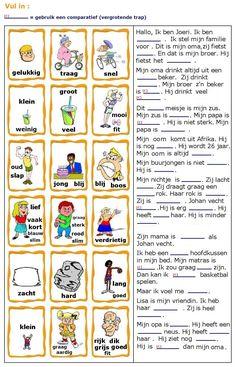 Bijvoeglijke naamwoorden (adjectieven) : vul in. Dutch Phrases, Dutch Words, Afrikaans Language, Learn Dutch, Dutch Netherlands, Dutch Language, Creative Teaching, Worksheets For Kids, Holidays And Events