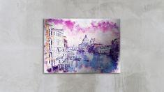 Tablou din aluminiu striat Pink Is The Sky Over Venice Venice, Sky, Interior Design, Pink, Inspiration, Home Decor, Heaven, Nest Design, Biblical Inspiration