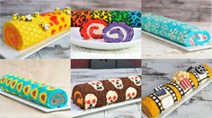 BEST DECORATED CAKE ROLLS, RAINBOW LEOPARD, SNOWFLAKE FROZEN, SUNFLOWER,...