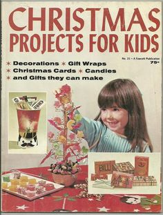 CHRISTMAS PROJECTS for KIDS ~ 1969 magazine ~ RECIPES~decorations~CARDS & GIFTS | eBay