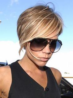 Victoria Beckham's longer short hair