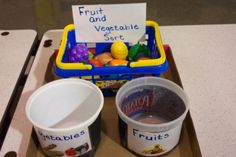 sorting fruits and vegetables Autism Preschool, Preschool Activities, Occupational Therapy, Speech Therapy, Autism Resources, Task Boxes, Speech Pathology, Head Start, Shoe Box