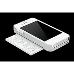Kiano 4 in white! The first real keyboard case for the iPhone!