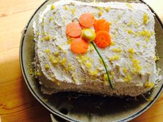 Carrot Cake with Cashew Frosting - Whole Grain, Macrobiotic, Vegan & Gluten Free — The Dainty Pig
