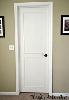 hollow core bore to a beautiful updated door diy slab door makeover, doors, how…