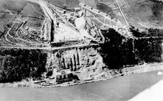 Aerial view of construction at the Queenston-Chippawa Power development - Details Niagara Falls Pictures, Hydroelectric Power, Niagara Region, Aerial View, Historical Photos, Ontario, Electric Company, Canada, Construction