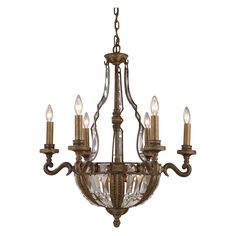 Have to have it. ELK Lighting Millwood Chandelier 5796/6+4 - 25W in. $1398