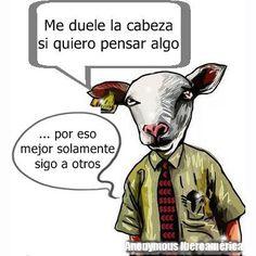 Piensa... No sigas a otros. Si tienes mente se te dió para usarla, para crear, para aportar lo inimaginable. http://instagram.com/p/tTkdJZDuvZ #Anonymous #Iberoamerica #AnonIbero