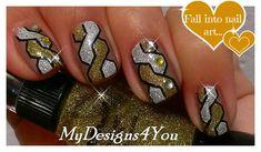 Braided Nail Art   How to Braid Nails   Gold & Silver Nail Design  ♥