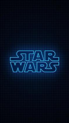 Star Wars logo in neon blue light💙