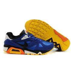 Nike Air Structure Triax 91 Men's Shoes Blue/Black/Yellow