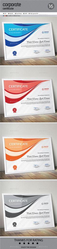 Certificate Template and Certificate templates - corporate certificate template