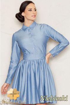 Rozkloszowana sukienka z górą zapinaną na guziki marki FIGL.  #cudmoda #moda #ubrania #odzież #clothes #sukienki #dresses