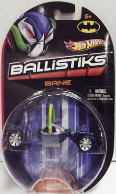"""Hot Wheels Ballistiks Vehicle - Bane by Mattel. $12.18. Ages 5+. Includes: One Hot Wheels Ballistiks Bane Vehicle. Dimensions: Approximately 1.5"""" x 3.25"""" x 1.75"""". Shoot to thrill!. Create the ultimate rumble with these transforming daredevil ball cars! Issue a challenge, then take down the competition with firepower, skill and fast-paced battling action. With endless ways to play, the only question is: How do you roll? Ages 5+"""
