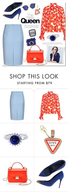 """""""Summer Queen"""" by mada-malureanu ❤ liked on Polyvore featuring TradeMark, Anya Hindmarch, Furla, Alexander McQueen, Krewe, skirt, ring, jewelry and jewelryartisan"""