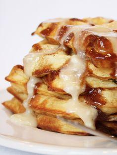Cinnamon Roll Waffles | Recipe Girl